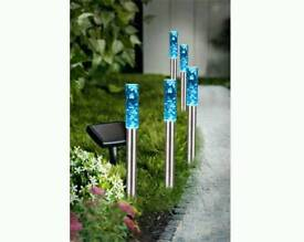 Set of 5 bubble solar lights