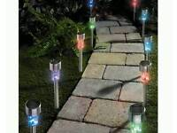 Solar colour changing lights 10 pack