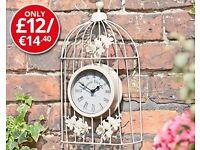 Vintage Birdcage Clock