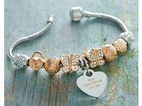 Rose Gold Coloured Charm Bracelet