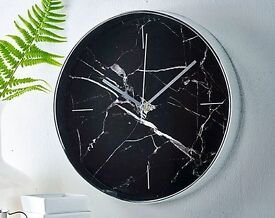 Black Marble Effect Clock (NEW)