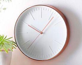 Copper Coloured Clock (NEW)