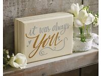 It Was Always You Plaque (NEW)