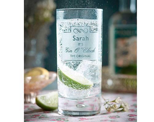 Personalised Gin O'Clock glass
