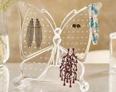 Ohrring Ständer Schmuckständer Klar Displayständer Schmetterling UK Verkäufer 96 Schmetterling Schmuck-ständer