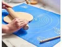 Silicone - Rolling Mat - Rolling Pin -Fondant Rolling Mat, - Flexible Baking Mat from £4-£12