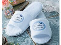 White Slippers (CAN BE PERSONALISED TO INCLUDE YOUR 1ST NAME) (NEW)