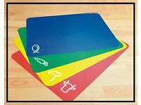 Anti-bacterial chopping mats