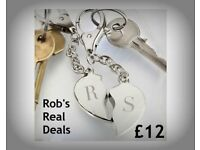 Two Hearts Are One Keyring Set