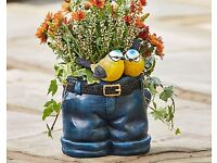 Jeans Planter with Birds - FREE DELIVERY