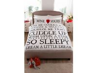 King Size Mine and Yours Duvet Set
