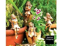 Set of 4 Classic Fairies - Garden Ornaments - New & Boxed.