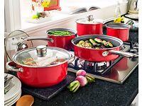 5 piece pan set with free colander