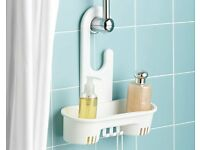 White Shower Shelf (H34.5 x W30 x D12cm) (NEW)