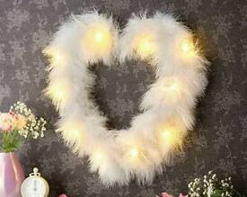 Led Feather Heart