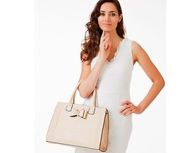 Cream Bow Detail Tote Bag (NEW)