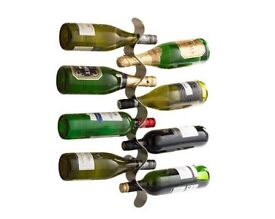 Wall Mounted Flow Wine Holder (L55 x W4.5 x D8cm) (NEW)