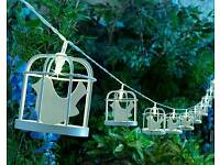 Solar birdcage string lights