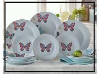 Vintage Butterflies Dinner Set