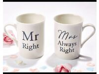 Mr right & mrs always right cups