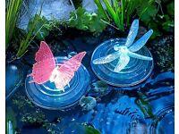 Set of 2 Floating Solar Lights