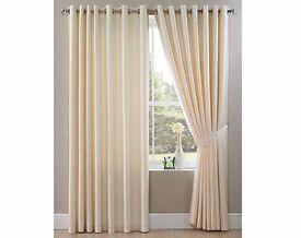 Ring Top Faux Silk Curtain 229 x 229cm Sleek and modern.