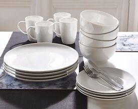 White 12 Piece Dinner Set