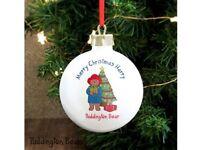 Personalised Paddington Bear Christmas Bauble