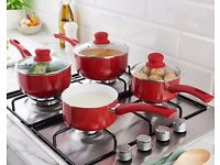 SET OF PANS AND POTS