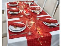 13 piece tableware set - red seasons cheer