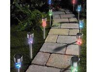 Pack of 10 Colour Change Solar Lights