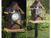 Solar Garden Birdhouse
