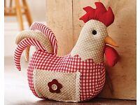 Red Chicken Door Stop