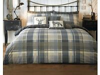 Brecon Charcoal Duvet Set King Size - Brand New