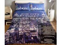 CITY THAT NEVER SLEEPS DUVET SET