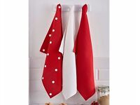 BRAND NEW Red & White Tea Towels