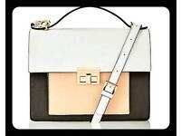 Colour block satchel