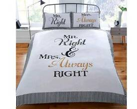Mr and Mrs duvet set