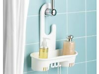 White Plastic Shower Shelf (H34.5 x W30 x D12cm) (NEW)