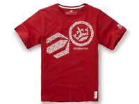 SET OF 2 CROSSHATCH RED AND WHITE T-SHIRTS