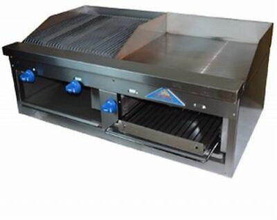 Comstock-castle Fhp48-2lb-24b 48 Countertop Gas Griddle Charbroiler