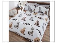 Cat bed duvet set single