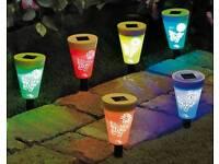 Set of 6 solar butterfly lights