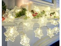 Snowflake Light Up Garland