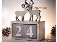 Wooden Reindeer Countdown Calendar