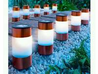 Copper path lights 10