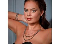 Cabouchon Ladies/Women's Geo Jewels Necklace & Earring Set (NEW)