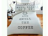Wake up and smell the coffee bedding set