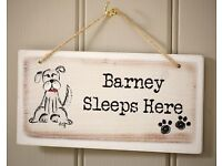 Dog/Cat Wooden Sign