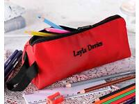 embroidered pencil case.